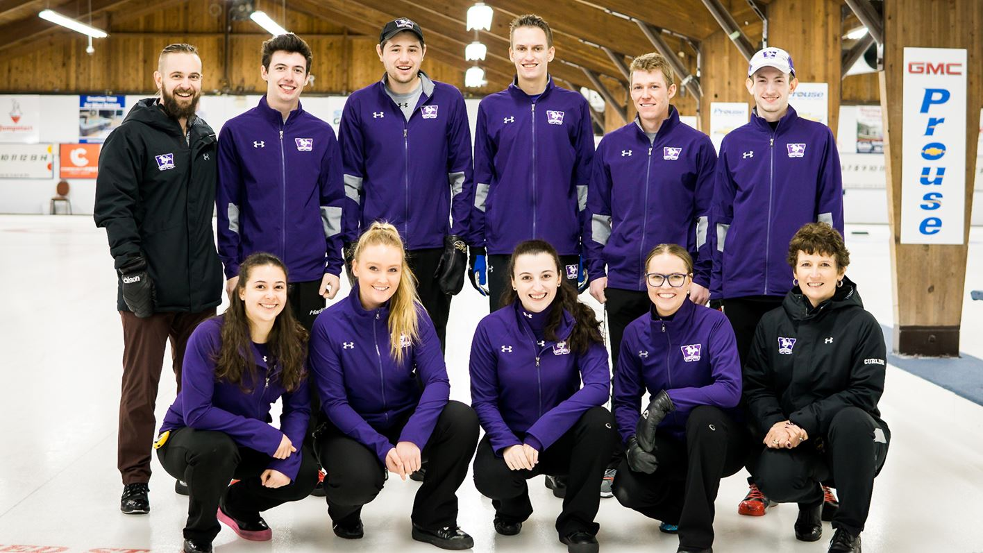 Mustangs men's team claims fourth place at the OUA Curling